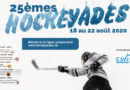Les 25èmes Hockeyades auront lieu du 18 au 22 août